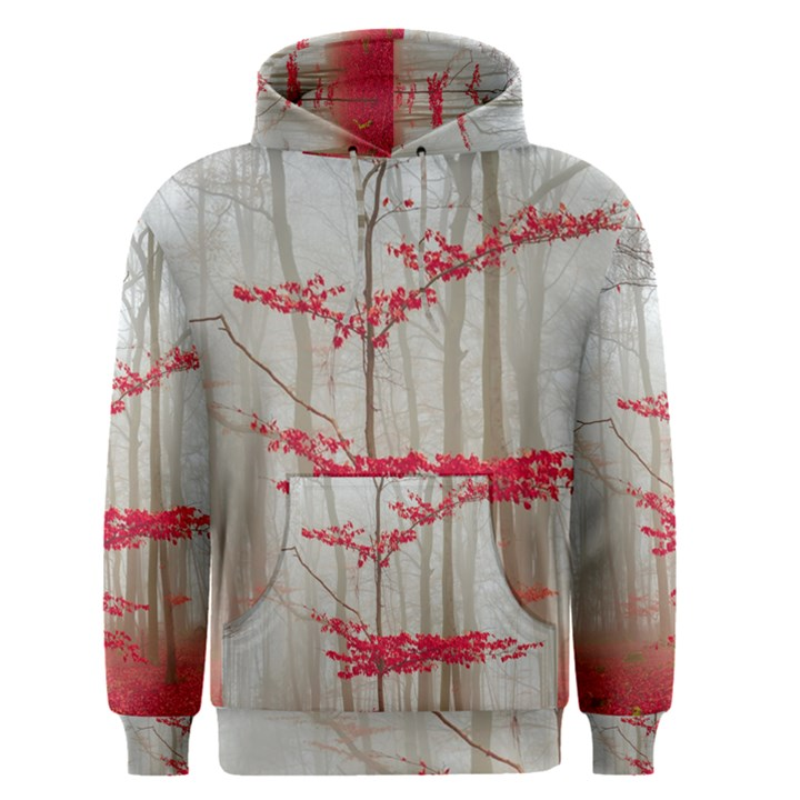 Magic Forest In Red And White Men s Pullover Hoodie
