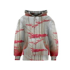 Magic Forest In Red And White Kids  Pullover Hoodie by wsfcow
