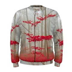Magic Forest In Red And White Men s Sweatshirt by wsfcow