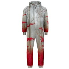 Magic Forest In Red And White Hooded Jumpsuit (men)