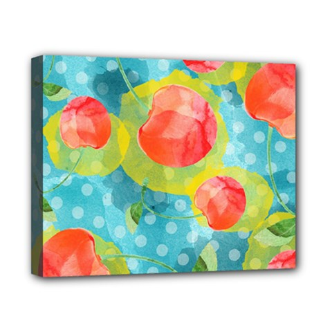 Red Cherries Canvas 10  X 8  by DanaeStudio