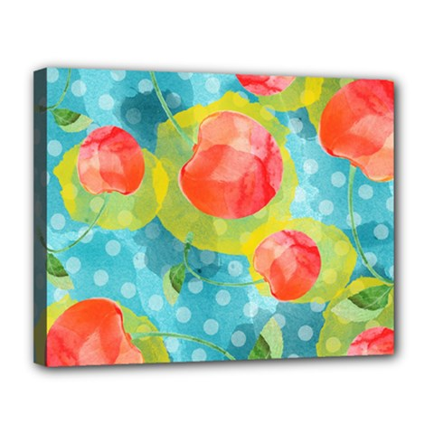 Red Cherries Canvas 14  X 11  by DanaeStudio