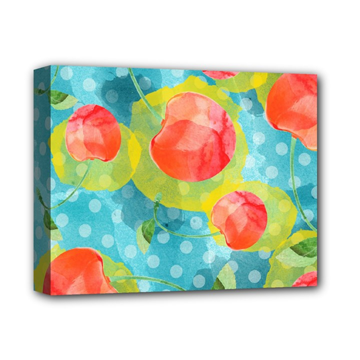 Red Cherries Deluxe Canvas 14  x 11