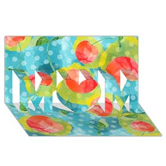 Red Cherries Mom 3d Greeting Card (8x4) by DanaeStudio