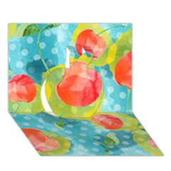 Red Cherries Apple 3d Greeting Card (7x5) by DanaeStudio