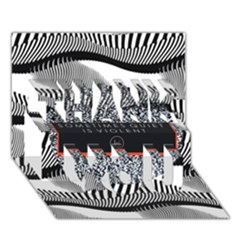 Sometimes Quiet Is Violent Twenty One Pilots The Meaning Of Blurryface Album Thank You 3d Greeting Card (7x5) by Onesevenart