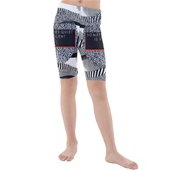 Sometimes Quiet Is Violent Twenty One Pilots The Meaning Of Blurryface Album Kids  Mid Length Swim Shorts by Onesevenart