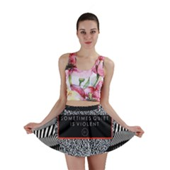 Sometimes Quiet Is Violent Twenty One Pilots The Meaning Of Blurryface Album Mini Skirt by Onesevenart