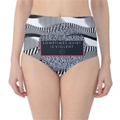 Sometimes Quiet Is Violent Twenty One Pilots The Meaning Of Blurryface Album High Waist Bikini Bottoms by Onesevenart