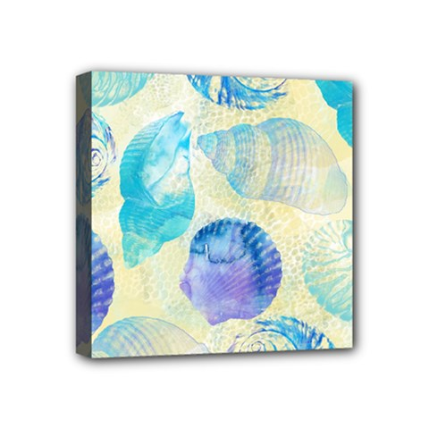 Seashells Mini Canvas 4  X 4  by DanaeStudio