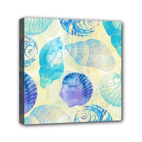 Seashells Mini Canvas 6  x 6