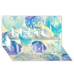 Seashells Best Friends 3D Greeting Card (8x4)