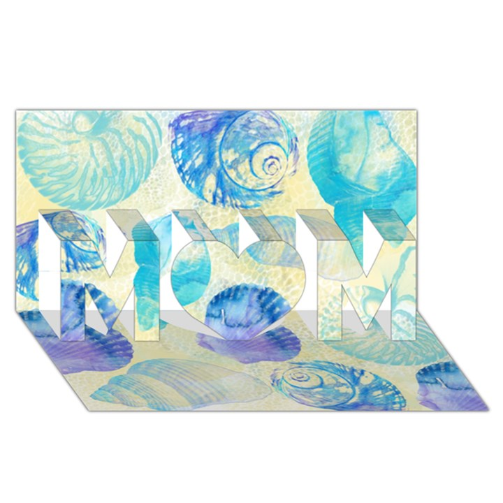 Seashells MOM 3D Greeting Card (8x4)