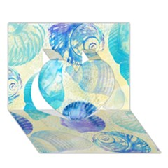 Seashells Heart 3D Greeting Card (7x5)