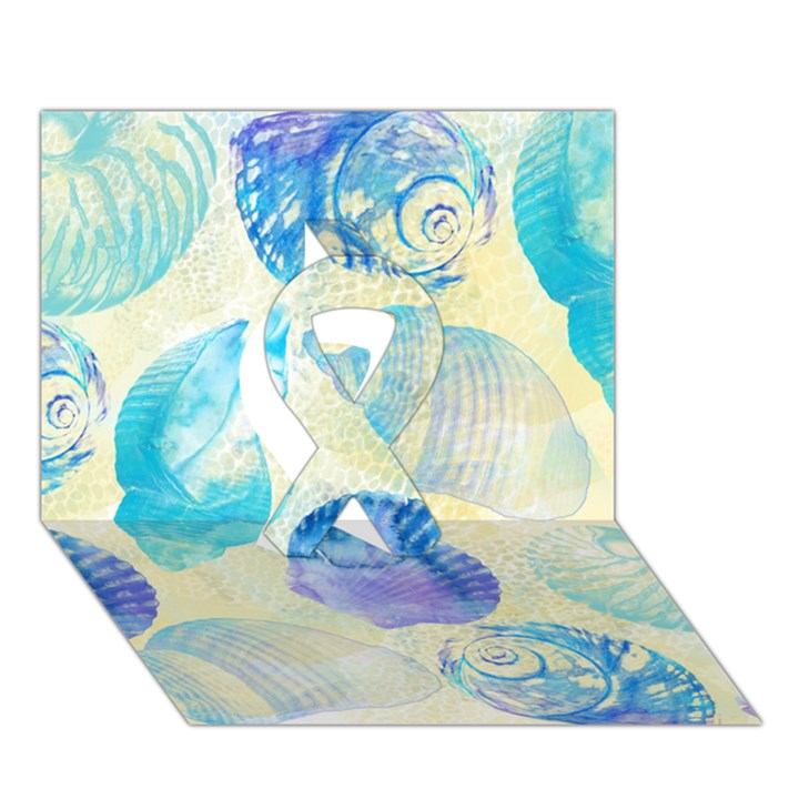 Seashells Ribbon 3D Greeting Card (7x5)