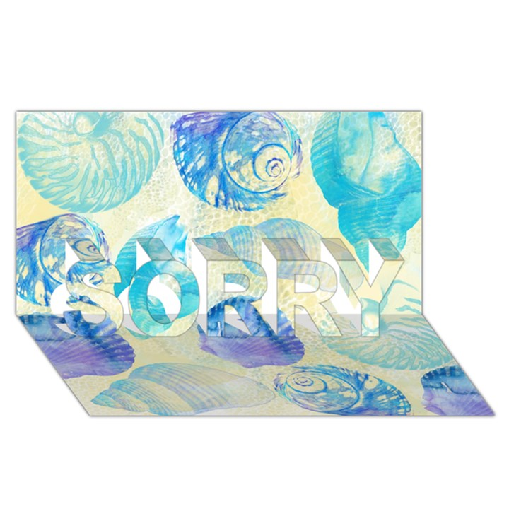 Seashells SORRY 3D Greeting Card (8x4)