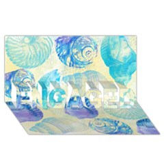 Seashells Engaged 3d Greeting Card (8x4) by DanaeStudio