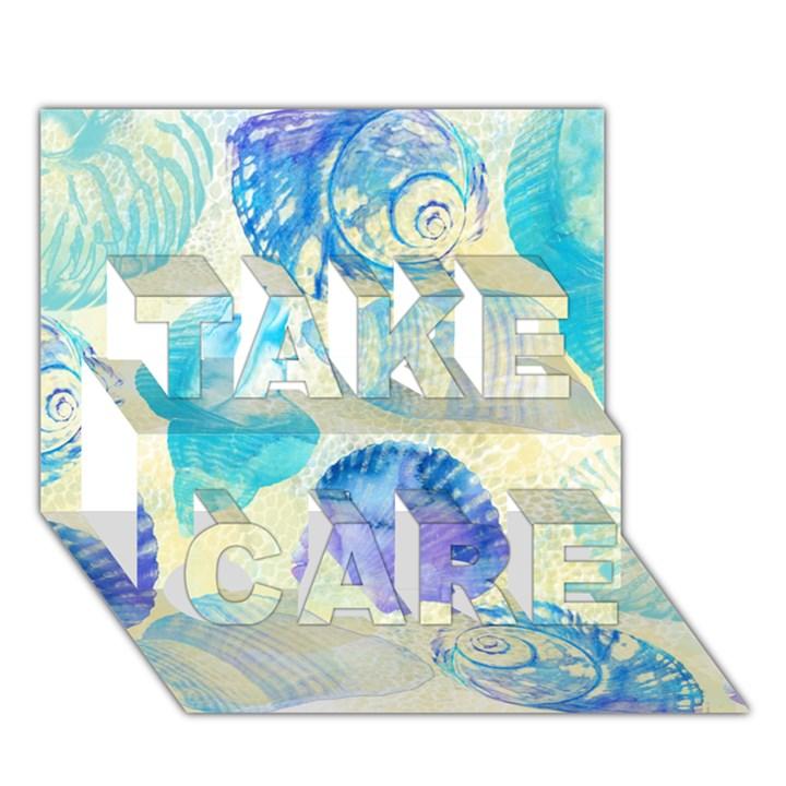 Seashells TAKE CARE 3D Greeting Card (7x5)