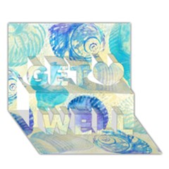 Seashells Get Well 3D Greeting Card (7x5)
