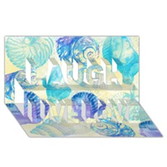 Seashells Laugh Live Love 3D Greeting Card (8x4)