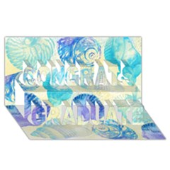 Seashells Congrats Graduate 3D Greeting Card (8x4)