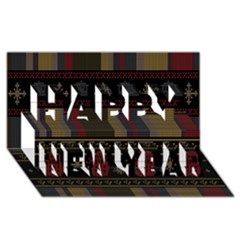 Tardis Doctor Who Ugly Holiday Happy New Year 3d Greeting Card (8x4) by Onesevenart