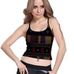 Tardis Doctor Who Ugly Holiday Spaghetti Strap Bra Top