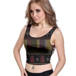 Tardis Doctor Who Ugly Holiday Crop Top
