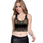 Tardis Doctor Who Ugly Holiday Racer Back Crop Top