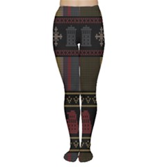 Tardis Doctor Who Ugly Holiday Women s Tights by Onesevenart