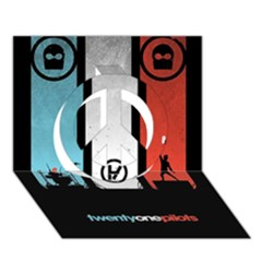 Twenty One 21 Pilots Peace Sign 3d Greeting Card (7x5) by Onesevenart