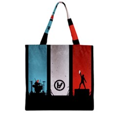 Twenty One 21 Pilots Zipper Grocery Tote Bag by Onesevenart