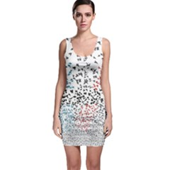 Twenty One Pilots Birds Sleeveless Bodycon Dress by Onesevenart
