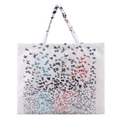 Twenty One Pilots Birds Zipper Large Tote Bag by Onesevenart