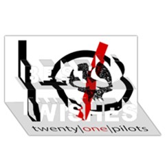 Twenty One Pilots Skull Best Wish 3d Greeting Card (8x4) by Onesevenart