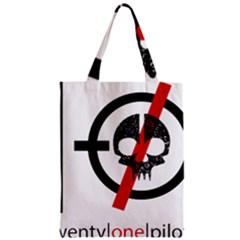 Twenty One Pilots Skull Zipper Classic Tote Bag by Onesevenart