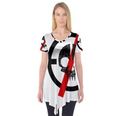 Twenty One Pilots Skull Short Sleeve Tunic  by Onesevenart