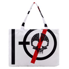 Twenty One Pilots Skull Medium Zipper Tote Bag by Onesevenart