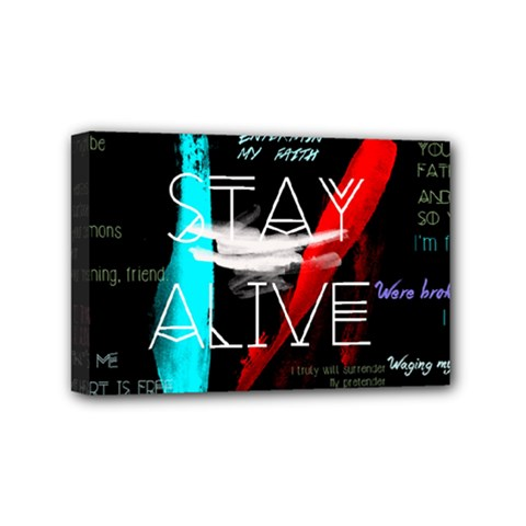 Twenty One Pilots Stay Alive Song Lyrics Quotes Mini Canvas 6  X 4  by Onesevenart