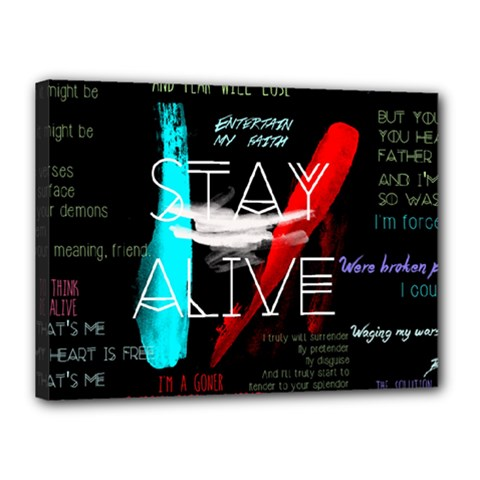 Twenty One Pilots Stay Alive Song Lyrics Quotes Canvas 16  X 12  by Onesevenart