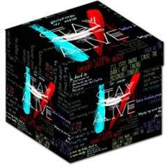 Twenty One Pilots Stay Alive Song Lyrics Quotes Storage Stool 12   by Onesevenart