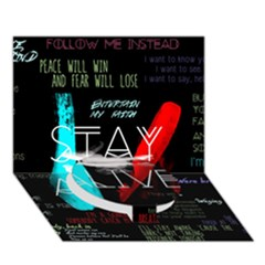 Twenty One Pilots Stay Alive Song Lyrics Quotes Circle Bottom 3d Greeting Card (7x5) by Onesevenart