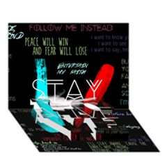 Twenty One Pilots Stay Alive Song Lyrics Quotes Love Bottom 3d Greeting Card (7x5) by Onesevenart