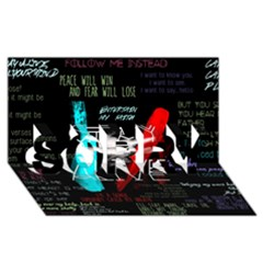Twenty One Pilots Stay Alive Song Lyrics Quotes Sorry 3d Greeting Card (8x4) by Onesevenart