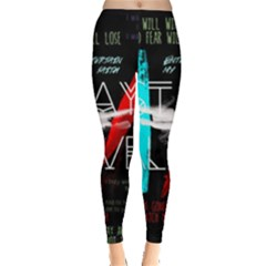 Twenty One Pilots Stay Alive Song Lyrics Quotes Leggings  by Onesevenart