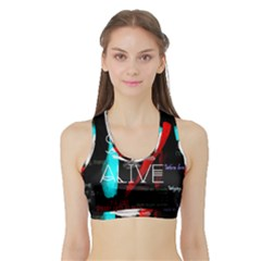 Twenty One Pilots Stay Alive Song Lyrics Quotes Sports Bra With Border by Onesevenart