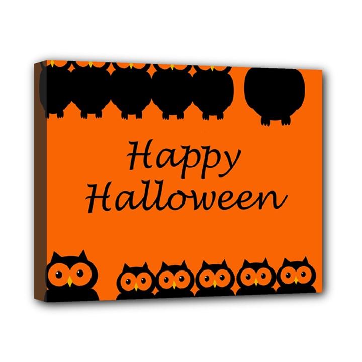 Happy Halloween - owls Canvas 10  x 8