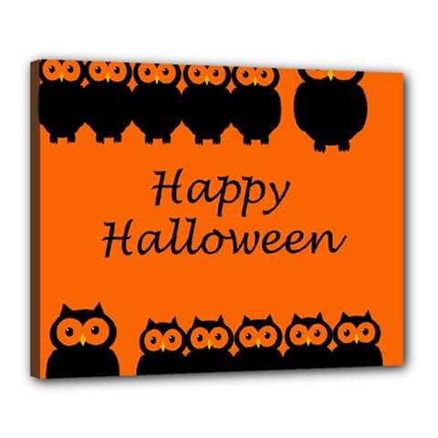 Happy Halloween   Owls Canvas 20  X 16