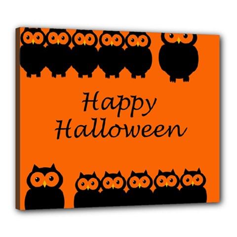 Happy Halloween - owls Canvas 24  x 20