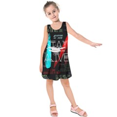 Twenty One Pilots Stay Alive Song Lyrics Quotes Kids  Sleeveless Dress by Onesevenart